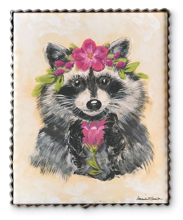 9648: Spring Woodland Raccoon Wall Art (Product Detail)