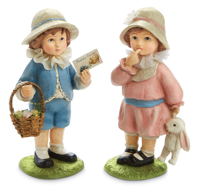9635: Children Ready for Easter (Set of Two) (Product Detail)