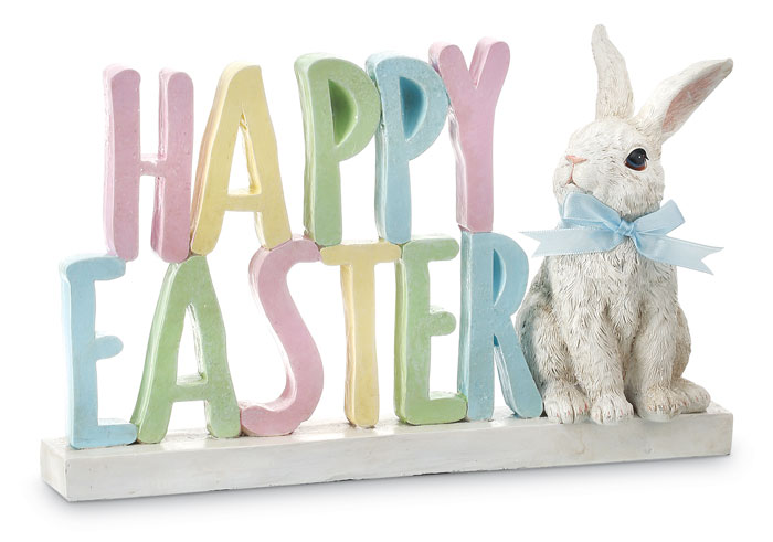 9600: Happy Easter Sign with Bunny (Product Detail)