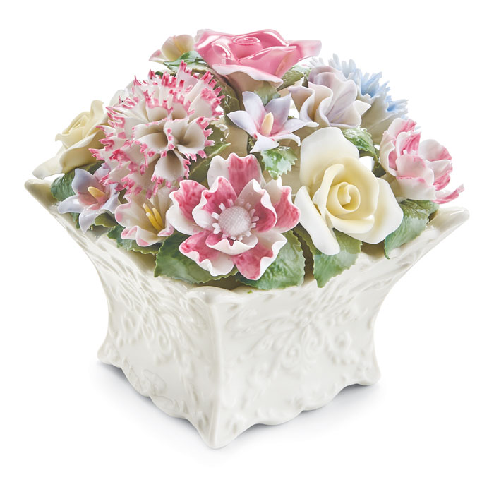 5068: Floral Cachepot Music Box (Product Detail)