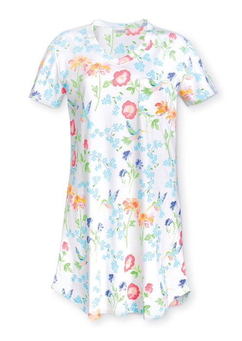 9684: Hummingbird Pima Cotton Gown - Large (Product Detail)