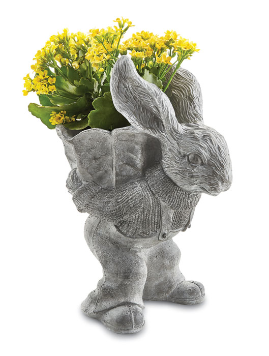 9639: Bunny with Cabbage Planter (Product Detail)