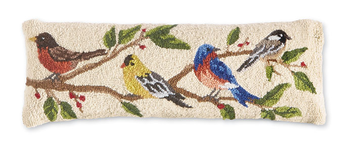 9722: Birds Lumbar Pillow (Product Detail)
