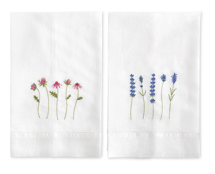 9710: Spring Floral Towels (Set of Two) (Product Detail)