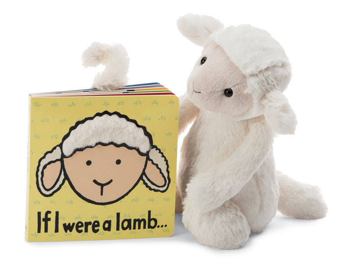 9642: Cuddly Lamb and Book (Product Detail)