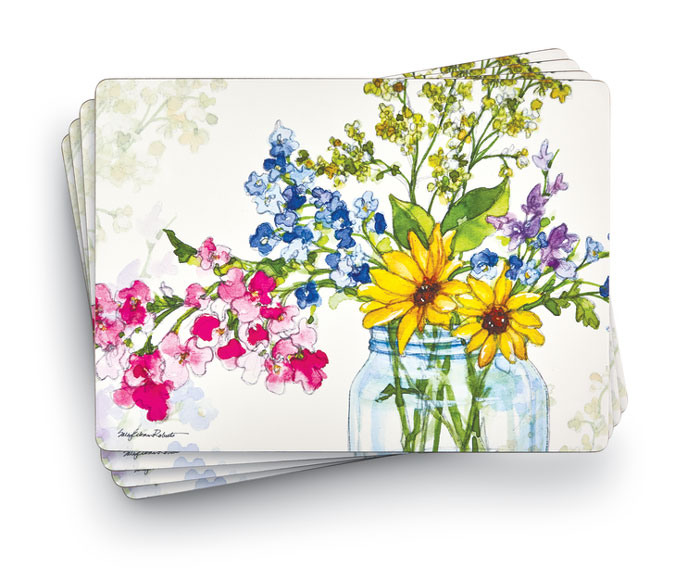 9756: Jar of Sunshine Placemats (Set of Four) (Product Detail)