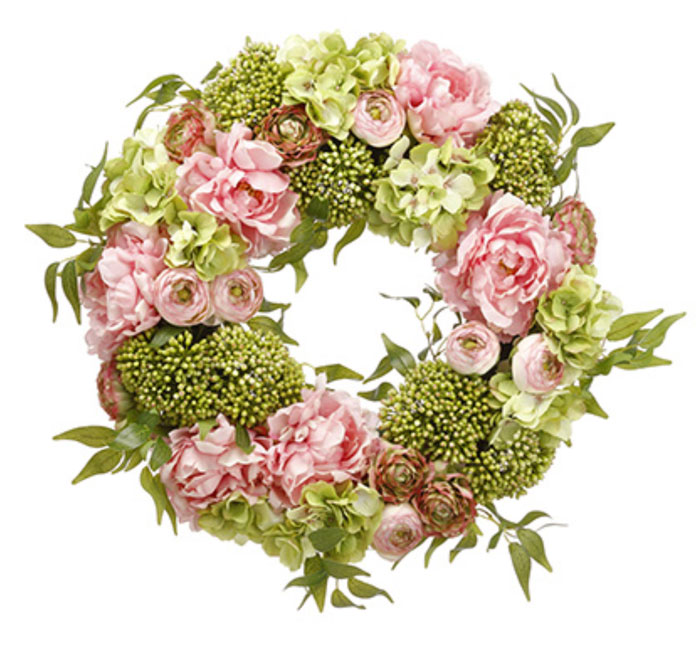 9754: Peonies Wreath (Product Detail)