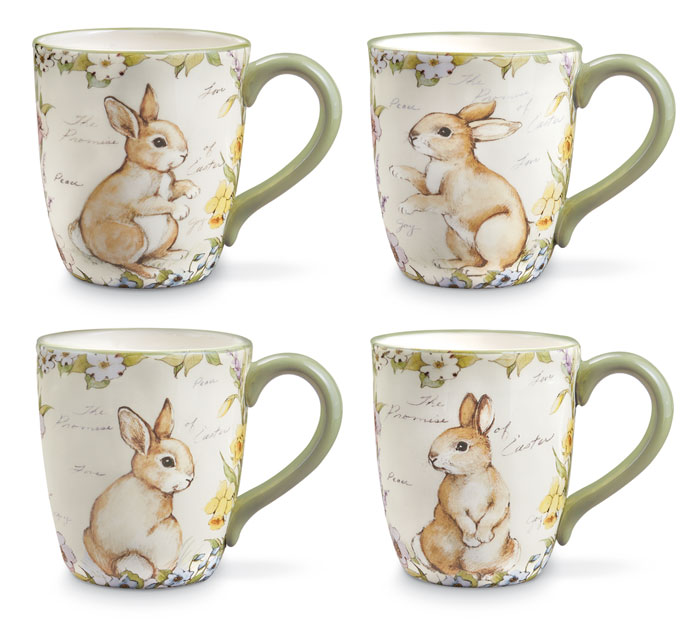 8500: Bunny Mugs (Set of Four) (Product Detail)