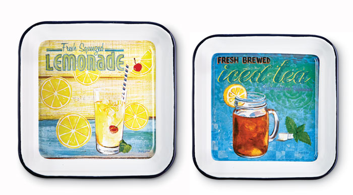 9615: Summer Fun Metal Trays (Set of Two) (Product Detail)