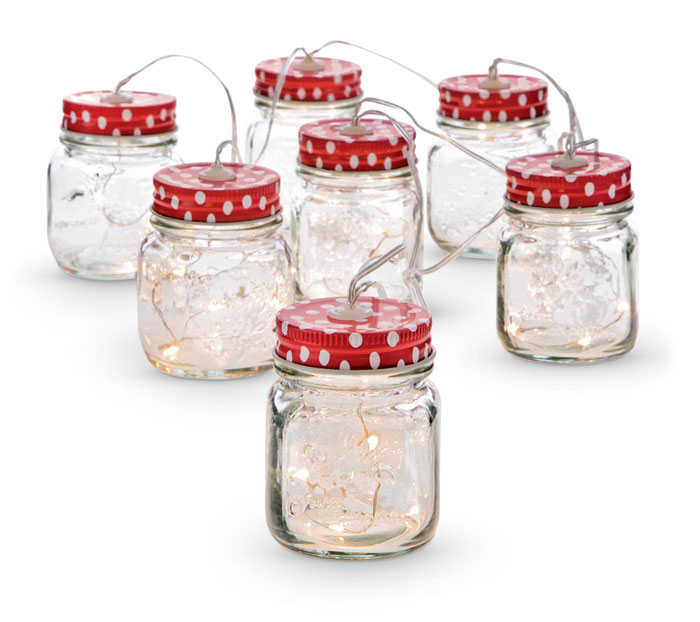 9626: String of Mason Jar Lights (Product Detail)