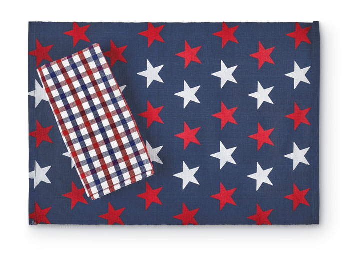 9779: Red/White/Blue Placemats (Set of Four) (Product Detail)