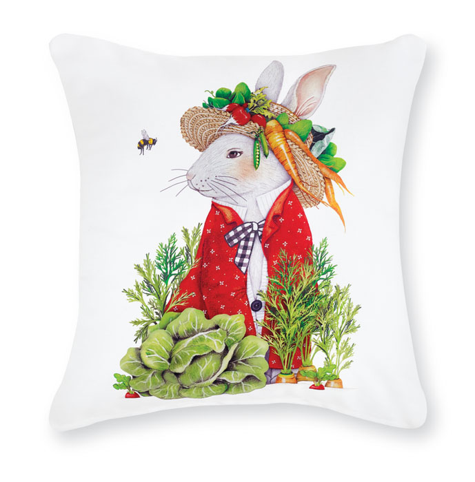 9777: Rabbit with Vegetables Pillow (Product Detail)