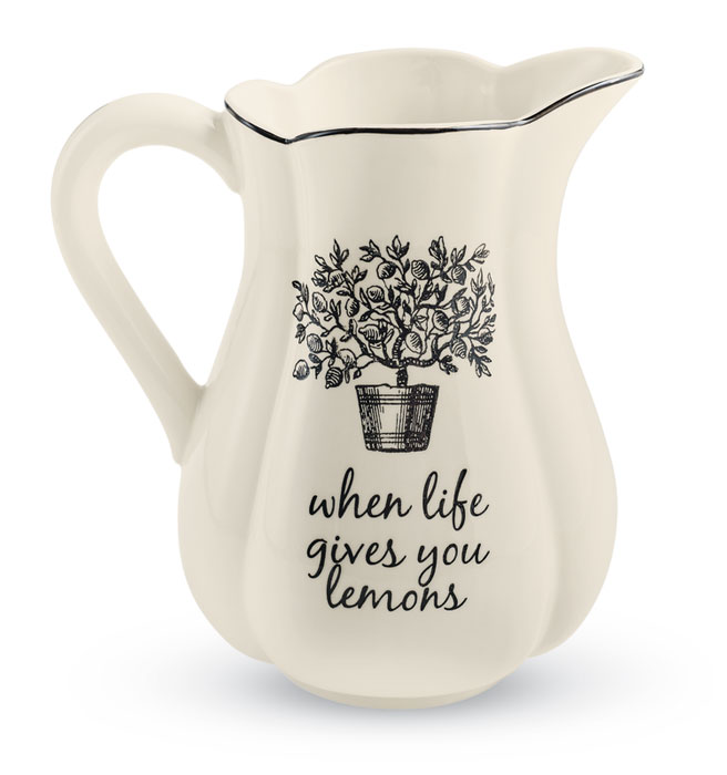9785: Black and White Porcelain Pitcher (Product Detail)