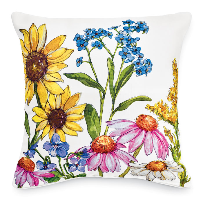 9810: Wildflowers II Pillow (Product Detail)