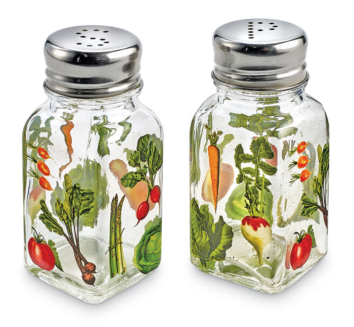 9801: Veggie Garden Salt and Pepper Shakers (Set of Two) (Product Detail)