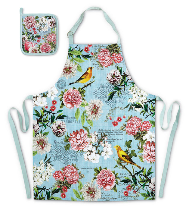 9813: Summer Garden Apron and Potholder (Product Detail)