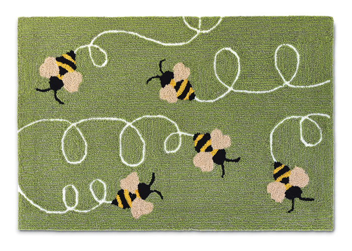 """9817: Bumbling Bees Rug 20"""" x 30"""" (Product Detail)"""