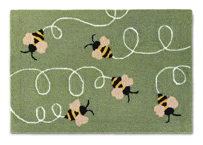 """9818: Bumbling Bees Rug 24"""" x 36"""" (Product Detail)"""
