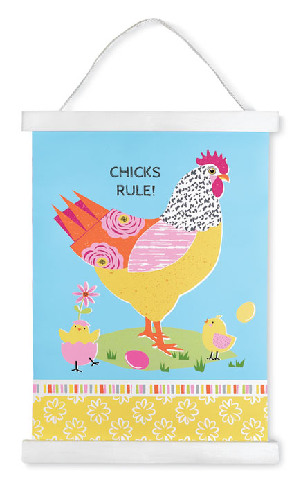 9886: Chicks Rule Wall Art (Product Detail)