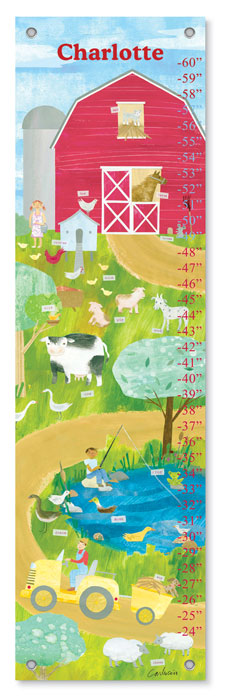 9847: Growth Chart - Farm Friends (Product Detail)