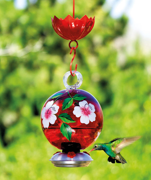 9859: Floral Hummingbird Feeder (Product Detail)