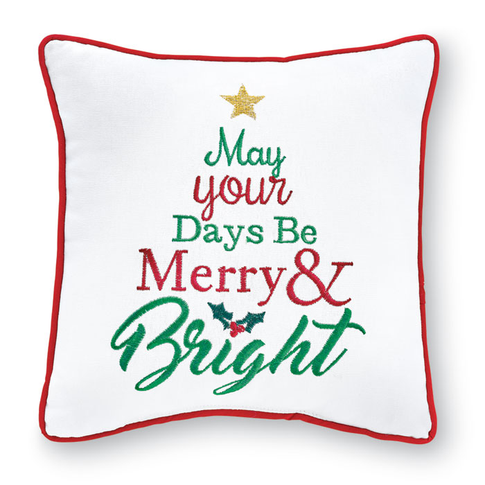 9018: Merry & Bright Pillow (Product Detail)