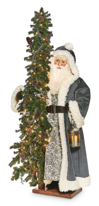 7700: Pewter Santa with Lantern (Product Detail)