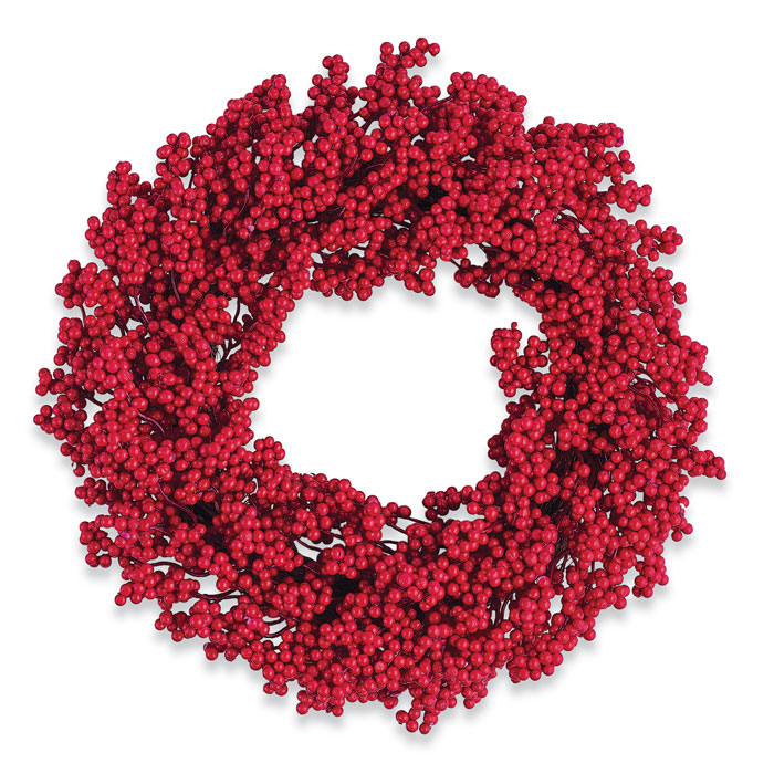 9900: Red Berries Wreath (Product Detail)