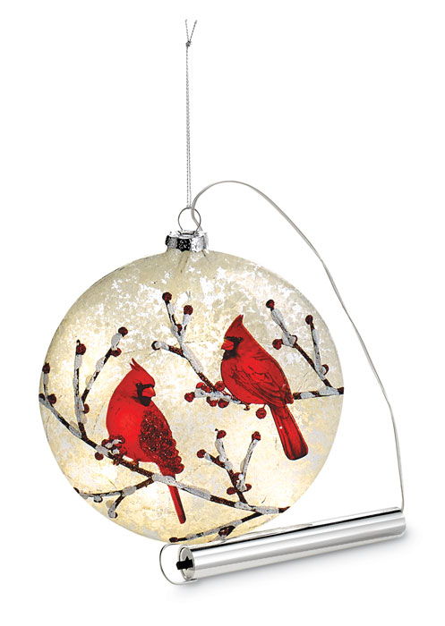 9942: Cardinal Ornament with LED Light (Product Detail)