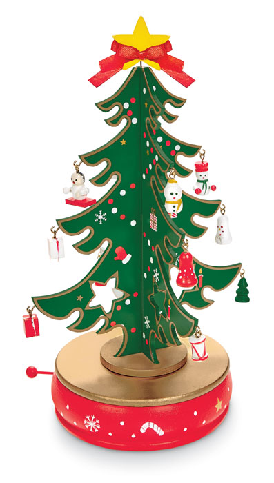 9937: Musical Wooden Tree with Ornaments (Product Detail)