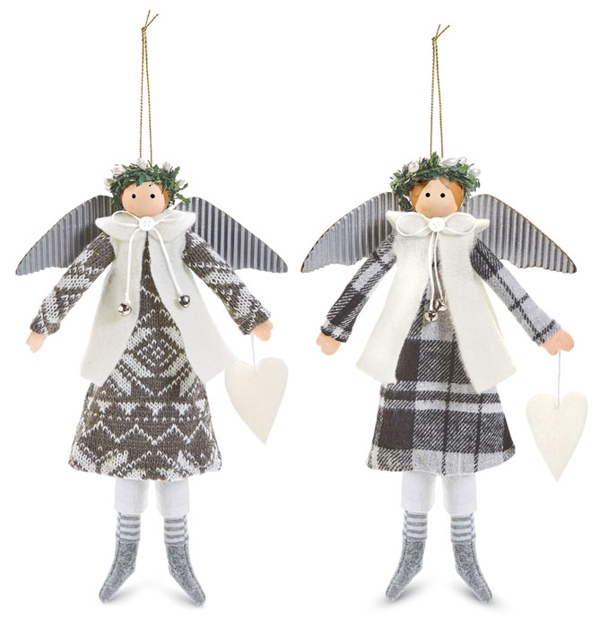 9935: Wintry Angels with Hearts (Set of Two) (Product Detail)
