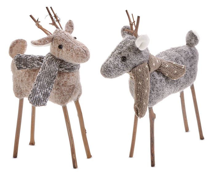 9916: Woolly Deer with Scarves (Set of Two) (Product Detail)