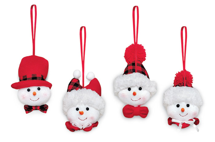 9914: Happy Snowball Ornaments (Set of Four) (Product Detail)