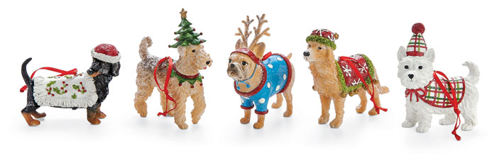 9879: Dog Ornaments (Set of Five) (Product Detail)