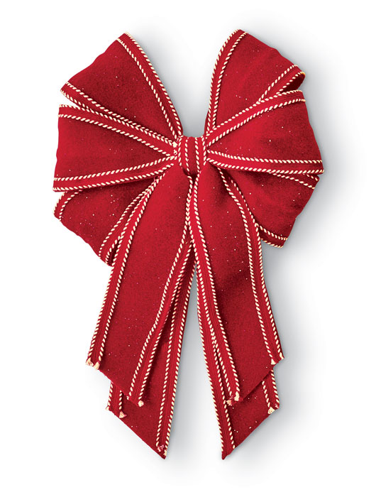 9878: Red Bow with Clip (Product Detail)