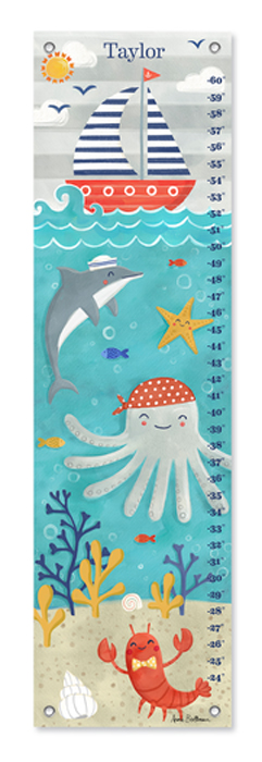 9153: Growth Chart - Sea Life Fun (Product Detail)