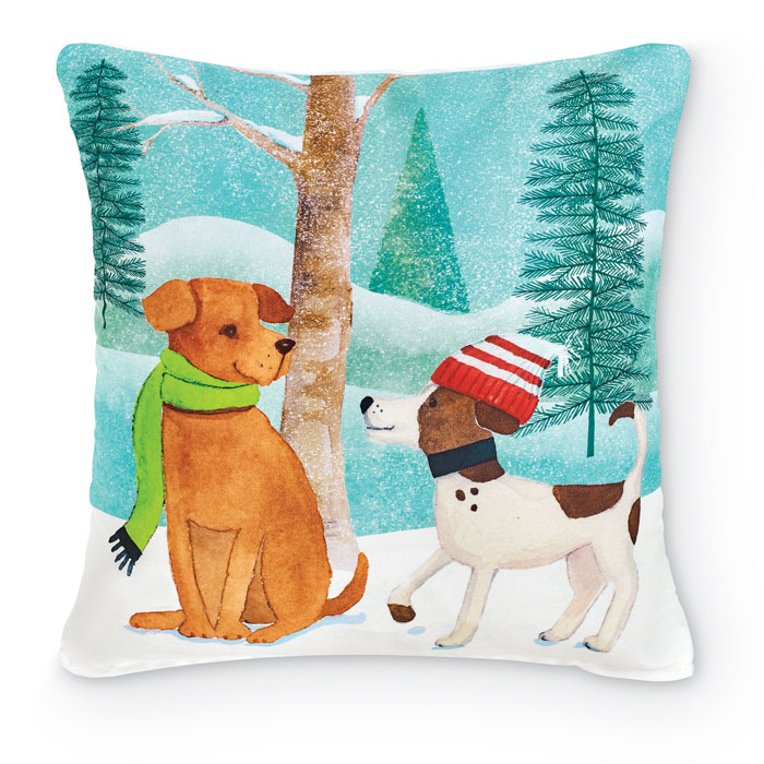 9098: Winter Pups Pillow I (Product Detail)