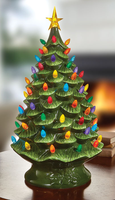 """9036: Lighted Porcelain Tree 24""""H (Product Detail)"""