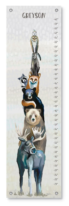 8355: Growth Chart - Woodland Animals (Product Detail)