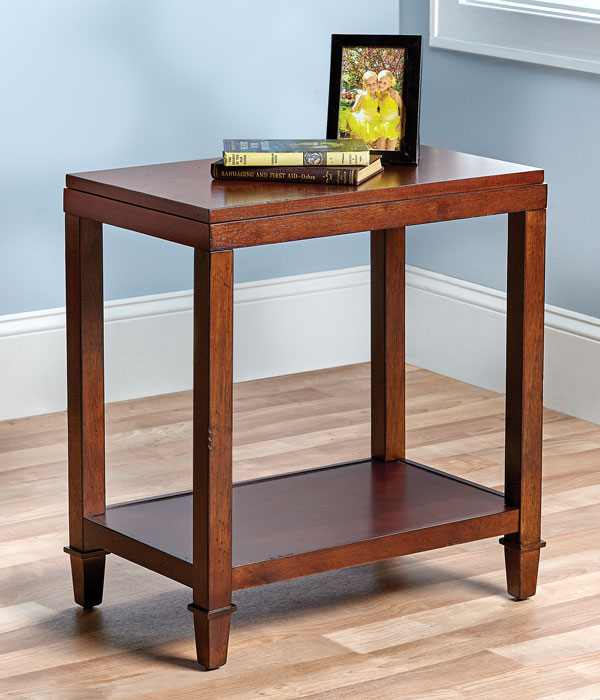9160: Two-Tier Table with Classic Straight Legs (Product Detail)