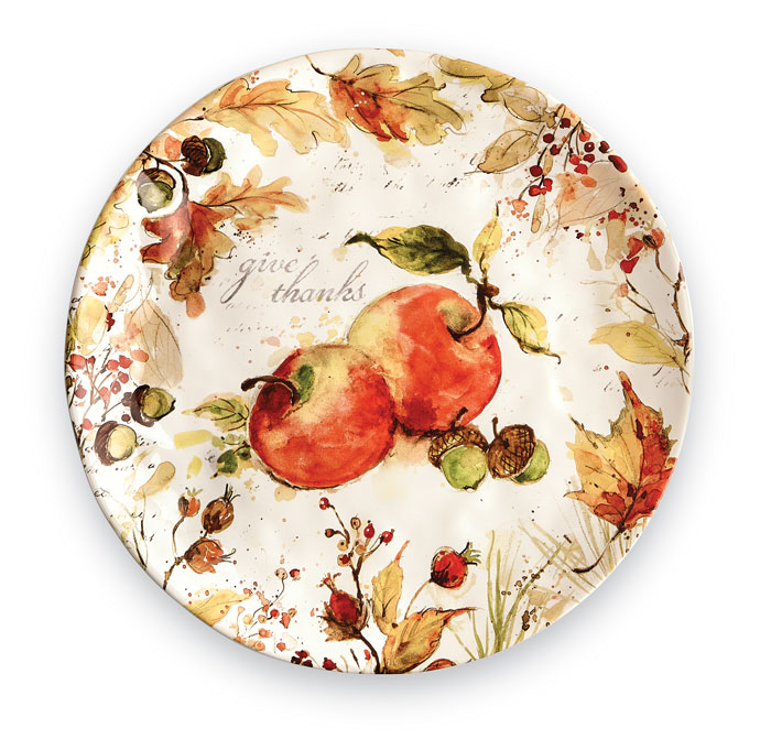 9168: Give Thanks Round Platter (Product Detail)