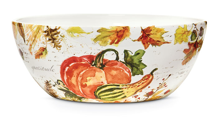 9167: Give Thanks Serving Bowl (Product Detail)