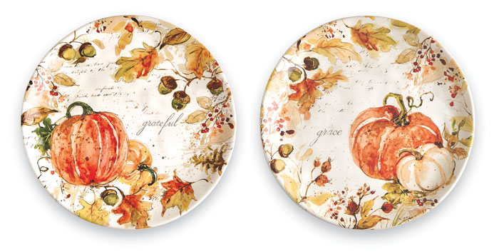 9169: Give Thanks Salad Plates (Set of Two) (Product Detail)