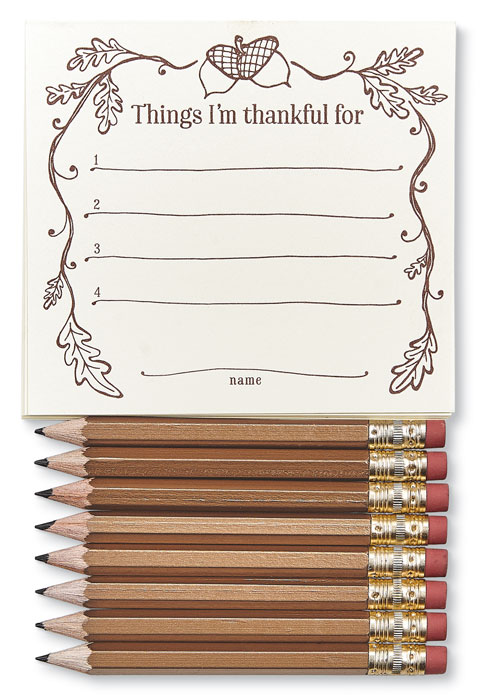 9116: Thankful Place Cards and Pencils (Set of Eight) (Product Detail)