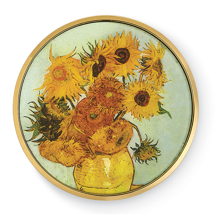 9128: Sunflowers Pocket Mirror (Product Detail)
