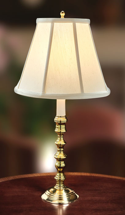 9148: Stafford Brass Lamp with Empire Shade (Product Detail)