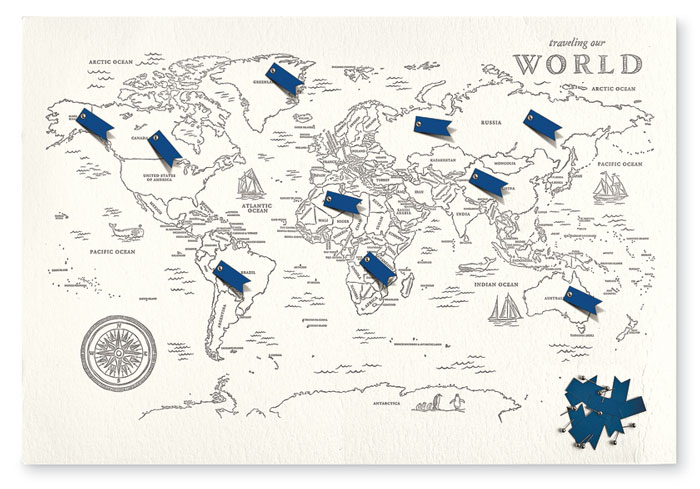 9115: World Travel Map with Flags and Pins (Product Detail)