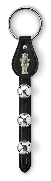 9028: Black Strap with Bells and Nutcracker Charm (Product Detail)