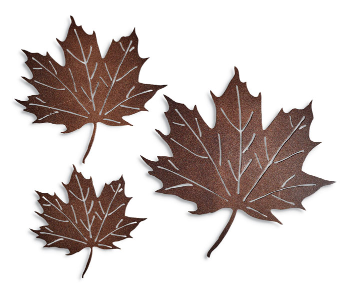 9949: Maple Leaves Wall Art (Set of Three) (Product Detail)
