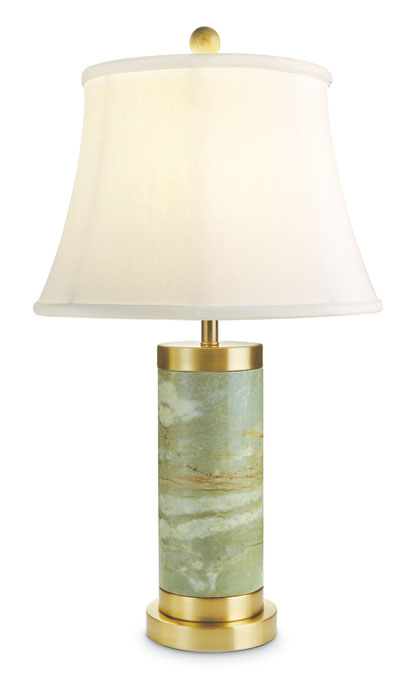 9244: Jade Lamp with Brass Accents (Product Detail)